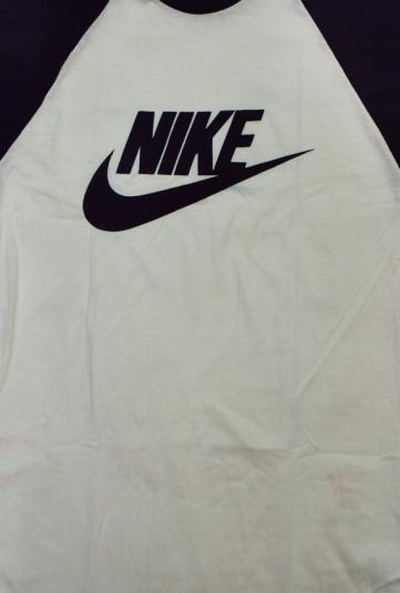 Vintage 70s-80s Nike Sportswear Orange Swoosh Raglan Jersey