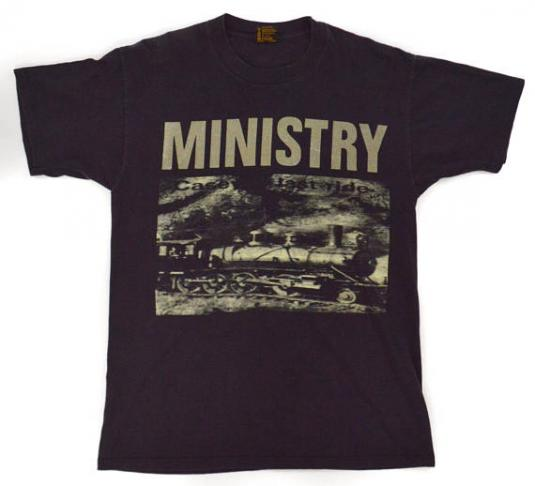 Vintage 90s Ministry Casey's Last Ride Industrial T Shirt L