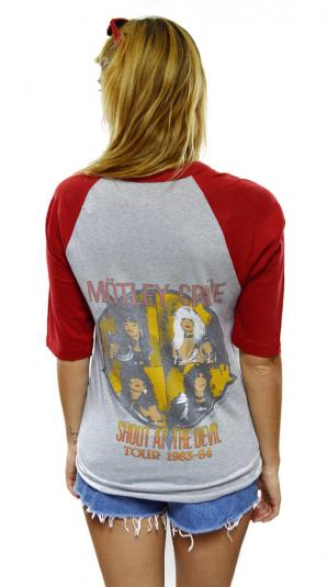 Vintage 80s Motley Crue Shout At The Devil Jersey