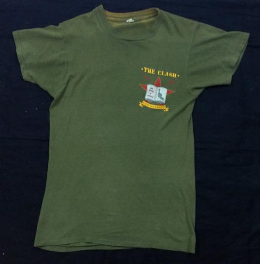 Vintage 80s THE CLASH Know Your Rights T Shirt