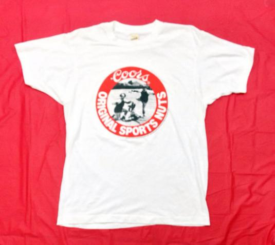 Vintage 80s Coors Original Sports Nuts Three Stooges T Shirt