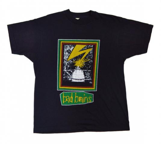 Vintage 80s Bad Brains Quickness 50/50 T Shirt Sz L