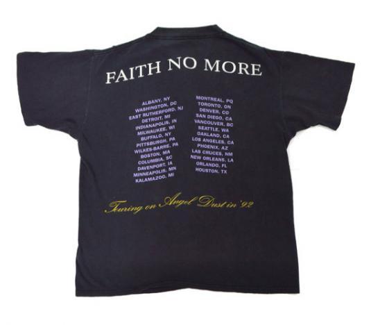 Vintage 80s Faith No More Angel Dust Tour Concert T Shirt L