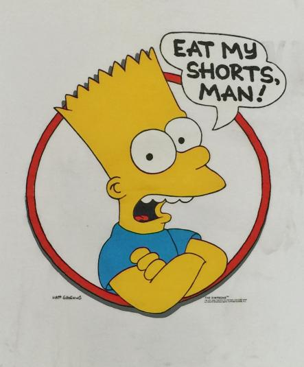 Vintage 90s The Simpsons Bart Simpson T Shirt