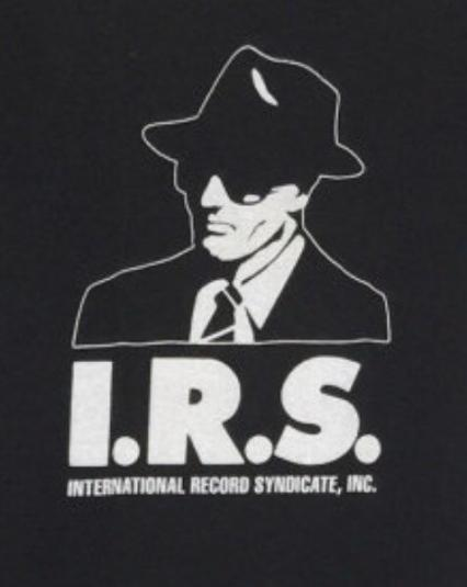 Vintage 80s I.R.S. International Record Syndicate T Shirt