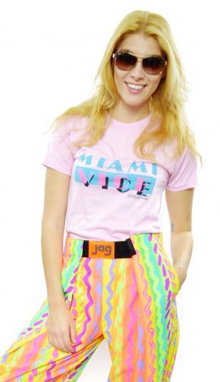 Vintage 80s Miami Vice Pink Promotional 50/50 T Shirt Sz M