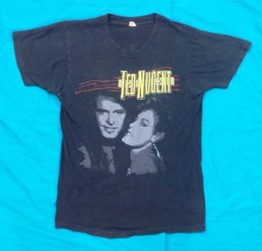 Vintage 80s TED NUGENT Little Miss Dangerass Rock T Shirt