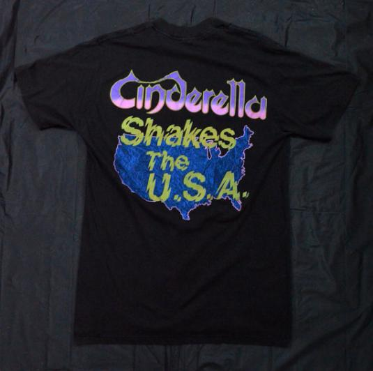 Vintage 80s CINDERELLA Shakes The U.S.A. T Shirt