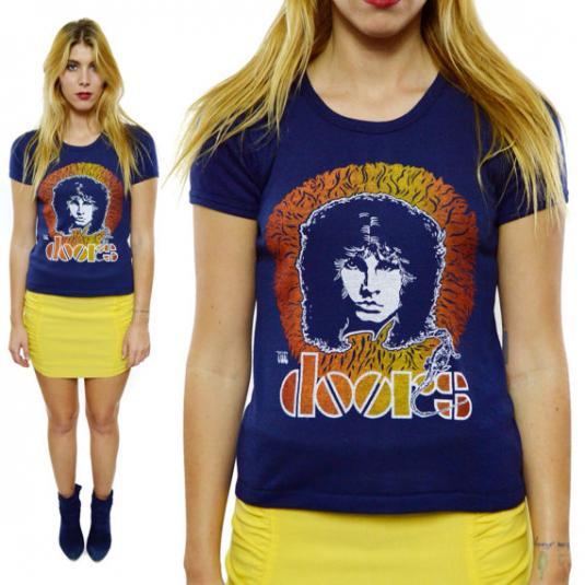 Vintage 70s The Doors Jim Morrison Rare 50/50 T Shirt Sz M
