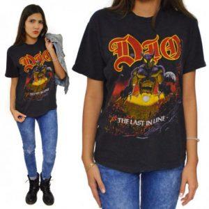 Vintage 80s Dio The Last in Line Heavy Metal T Shirt Sz L