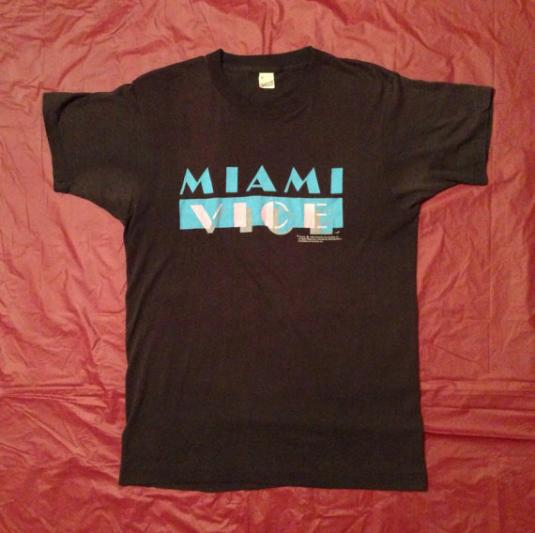 Vintage 80s Miami Vice 1984 Screen Stars 50/50 T Shirt Sz M