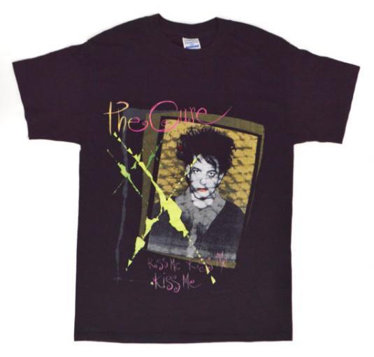 Vintage 80s The Cure Kiss Me Kiss Me Kiss Me Tour T Shirt M
