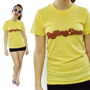 Vintage 80s ROLLING STONE Magazine 50/50 T Shirt Sz S