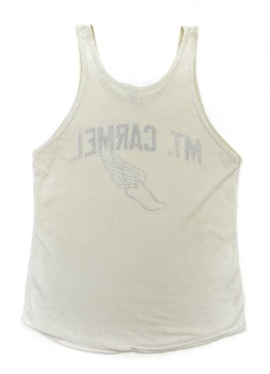 Vintage 80s Mt. Carmel Russell Athletic Tank Top T Shirt