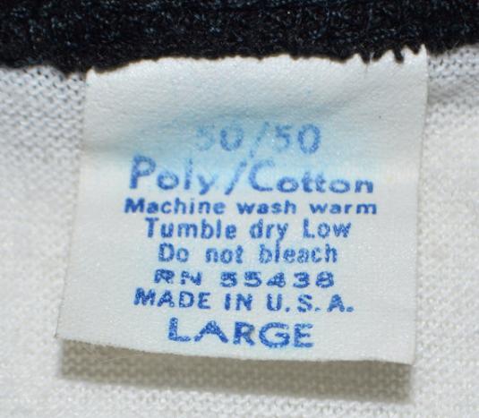Vintage 80s Accept Russian Roulette Raglan 3/4 Sleeve Jersey