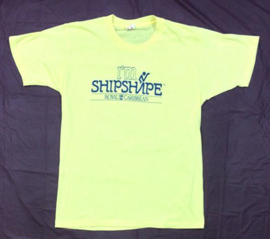 Vintage 80s Royal Caribbean I'm Shipshape 50/50 T Shirt Sz L