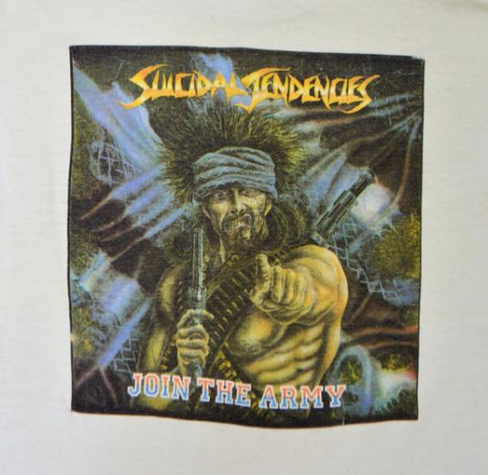Vintage 80s Suicidal Tendencies Join The Army T Shirt Sz M