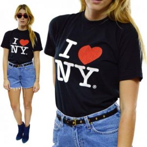 Vintage 80s I Love NY New York City Jerzees 50/50 T Shirt