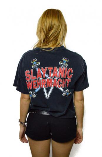 Vintage 90s Slayer Wehrmacht Slaytanic T Shirt Sz L