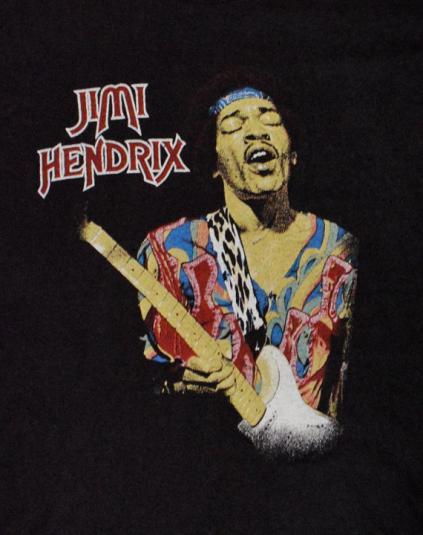 Vintage 80s Jimi Hendrix The Experience T Shirt Sz L
