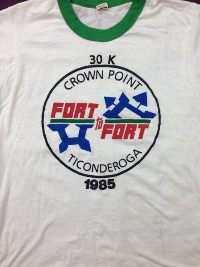 VTG 80s 30k Crown Point Fort To Fort Ticonderoga T Shirt