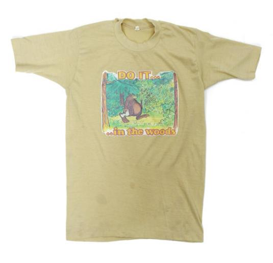 Vintage 70s Do It… In The Woods Transfer Iron-On T Shirt