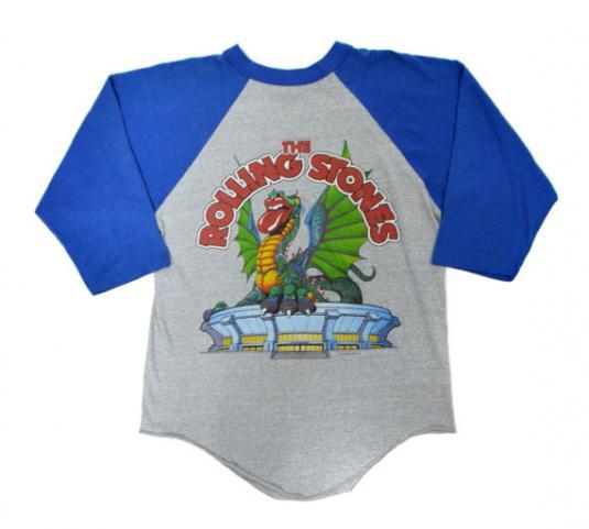 Vintage 80s The Rolling Stones Philadelphia Raglan T Shirt