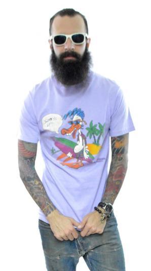 Vintage 80s Op OCEAN PACIFIC Dizzy Duck Surfer T Shirt
