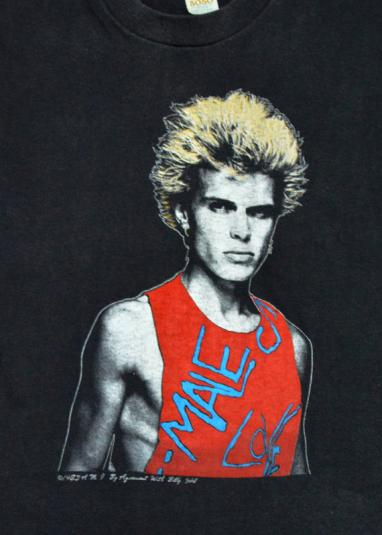 Vintage 80s Billy Idol Male Love T Shirt Sz M