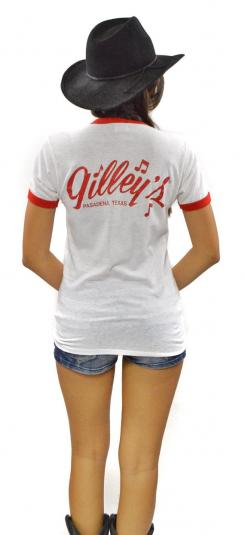 Vintage 80s Gilley's Pasadena, Texas Bar Ringer T Shirt Sz M
