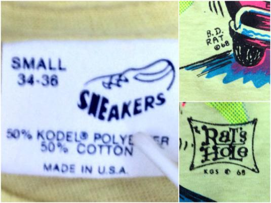 Vintage 80s GIANT KILLER Hot Rod Rat's Hole T Shirt