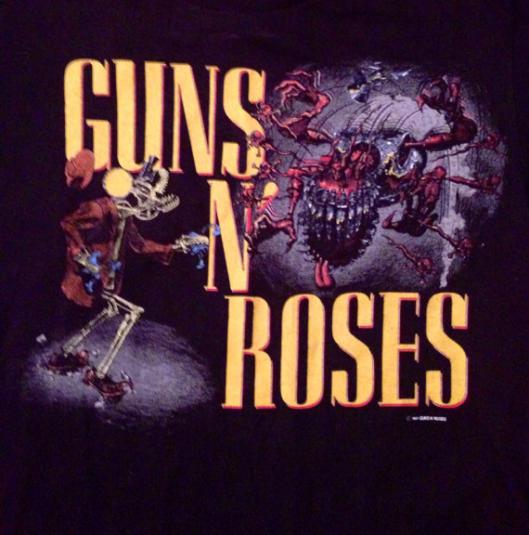 Vintage 80s GUNS N' ROSES Was Here Banned T Shirt