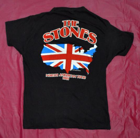 Vintage 80s The Rolling Stones North American Tour T Shirt