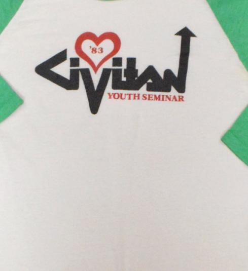 Vintage 80s Civitan Youth Seminar '83 Jersey Sz M