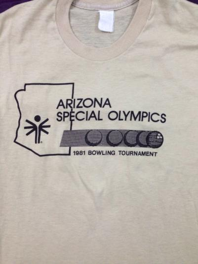 Vintage 80s Arizona Special Olympics Bowling T Shirt