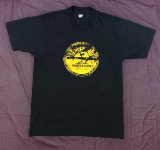 Vintage 90s SUN STUDIO Records Memphis Tennessee T Shirt