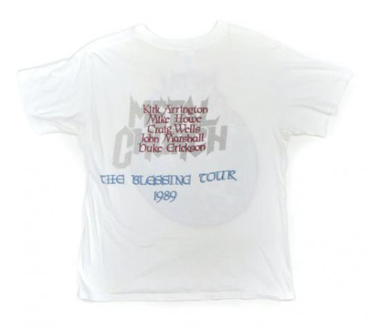 Vintage 80s Metal Church The Blessing Tour 50/50 T Shirt Sz