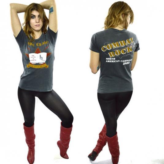 Vintage 80s Combat Rock Know Your Rights Punk Rock T Shirt