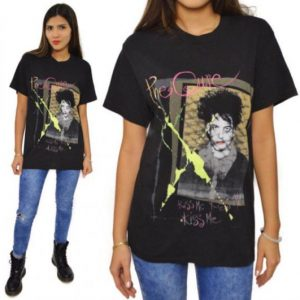 Vintage 80s The Cure Kiss Me Kiss Me Kiss Me Tour T Shirt M