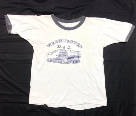 Vintage 80s Washington D.C. Capitol Ringer T Shirt