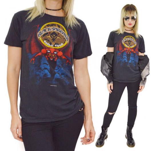 Vintage 80s Black Sabbath Heaven and Hell World Tour T Shirt