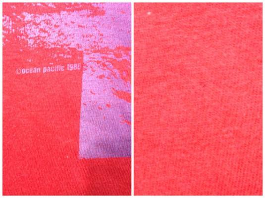 Vintage 80s OP OCEAN PACIFIC Surfer Red Summer T Shirt