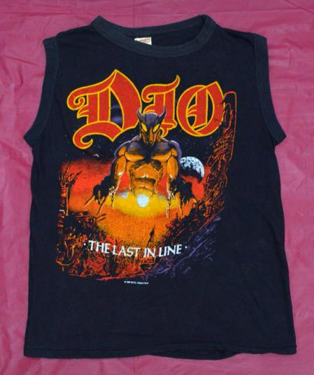 Vintage 80s DIO The Last In Line Sleeveless Tank T Shirt Sz