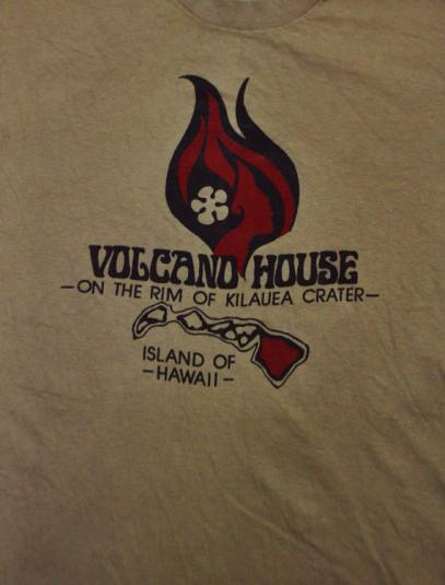 Vintage 80s Volcano House Hawaii Hi Cru Stedman T Shirt