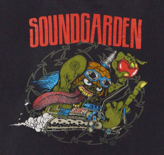 Vintage 90s Soundgarden Badmotorfinger Tour Grunge T Shirt L