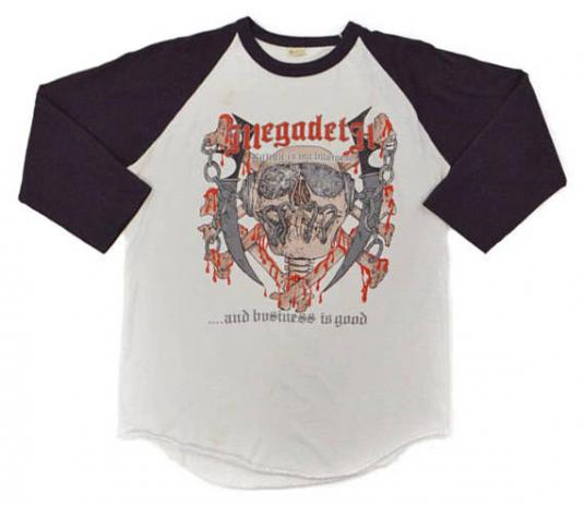 Vintage 80s Megadeth Killing is My Business T Shirt Sz L