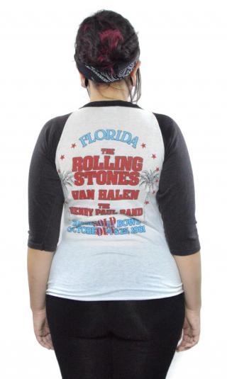 Vintage 80s The Rolling Stones Florida Jersey Sz M