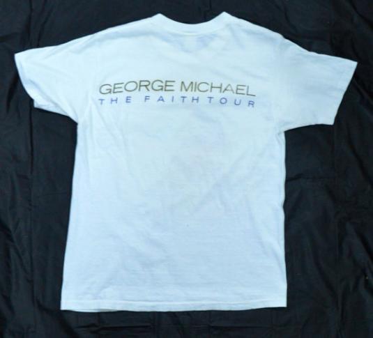 Vintage 80s GEORGE MICHAEL The Faith Tour T Shirt Sz M