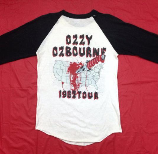 Vintage 80s OZZY OSBOURNE BAND 1982 Tour 50/50 T Shirt Sz M