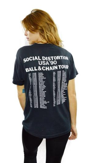 Vintage 90s SOCIAL DISTORTION Ball and Chain Tour T Shirt